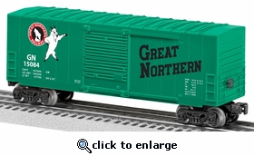 Lionel Great Northern Hi-Cube Boxcar (O Gauge)