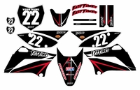 2010-2018 KLX110 Graphics Kit (Black) Arrow Series by Fast Times