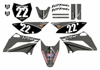 2010-2018 KLX110 Graphics Kit (Gray) Arrow Series by Fast Times
