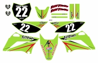 Arrow Series Fast Times KLX110 2010-2018 Graphics Kit (Green)