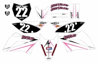 2010-2018 KLX110 Graphics Kit (Pink) Arrow Series by Fast Times