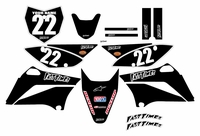2010-2018 KLX110 Graphics Kit (Black) Clean Series by Fast Times