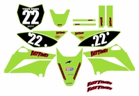2010-2018 KLX110 Graphics Kit (Green) Clean Series by Fast Times