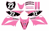 2010-2018 KLX110 Graphics Kit (Pink) Clean Series by Fast Times