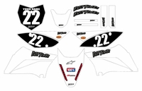 2010-2018 KLX110 Graphics Kit (White) Clean Series by Fast Times