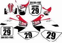 CRF50 Graphic Kit - Stripe Series (White) XR50.COM