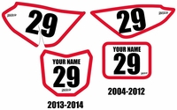 Honda CRF50 Pre-Printed Backgrounds Fast Times (Pro Bold)
