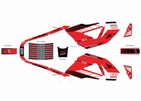 Honda GROM Graphics Kit Red by Yoshimura
