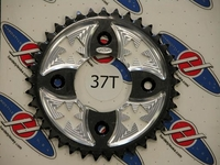 "Kawasaki KLX110 Rear Sprocket ""Iron Cross"" Black by Hardstyle"