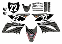 Lines Series Fast Times KLX110 2010-2018 Graphics Kit (Gray)