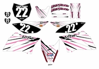 2010-2018 KLX110 Graphics Kit (Pink) Lines Series by Fast Times