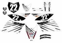 2010-2018 KLX110 Graphics Kit (White) Lines Series by Fast Times