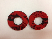 Metal Mulisha Blister Busters (Red/Black) Grip Donuts