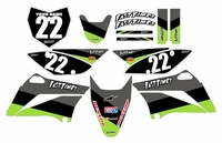 2010-2018 KLX110 Graphics Kit (Black) Stripe Series by Fast Times