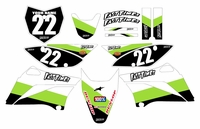 2010-2018 KLX110 Graphics Kit (Green) Stripe Series by Fast Times