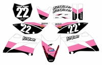2010-2018 KLX110 Graphics Kit (Pink) Stripe Series by Fast Times