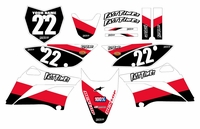 2010-2018 KLX110 Graphics Kit (Red) Stripe Series by Fast Times