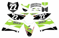 2010-2018 KLX110 Graphics Kit (White) Stripe Series by Fast Times