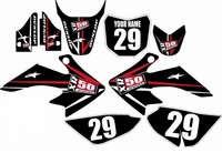 Suzuki DRZ 70 Graphics Kit (Black) Arrow Series by FastTimes