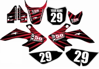 Suzuki DRZ 70 Graphics Kit (Black) Lines Series by FastTimes