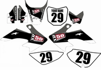 Suzuki DRZ 70 Graphics Kit (Black) Stripe Series by FastTimes