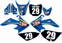 Suzuki DRZ 70 Graphics Kit (Blue) Arrow Series by FastTimes