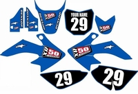 Suzuki DRZ 70 Graphics Kit (Blue) Clean Series by FastTimes