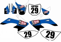 Suzuki DRZ 70 Graphics Kit (Blue) Stripe Series by FastTimes
