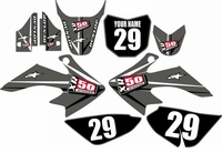 Suzuki DRZ 70 Graphics Kit (Gray) Arrow Series by FastTimes