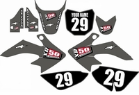 Suzuki DRZ 70 Graphics Kit (Gray) Clean Series by FastTimes