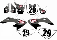 Suzuki DRZ 70 Graphics Kit (Gray) Stripe Series by FastTimes