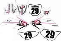 Suzuki DRZ 70 Graphics Kit (Pink) Arrow Series by FastTimes