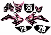 Suzuki DRZ 70 Graphics Kit (Pink/Black) Lines Series by FastTimes