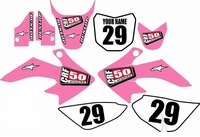 Suzuki DRZ 70 Graphics Kit (Pink) Clean Series by FastTimes