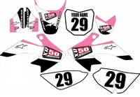 Suzuki DRZ 70 Graphics Kit (Pink) Stripe Series by FastTimes