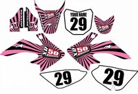 Suzuki DRZ 70 Graphics Kit (Pink/Black) Swirl Series by Fast Times