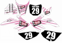 Suzuki DRZ 70 Graphics Kit (Pink/White) Lines Series by FastTimes