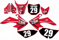 Suzuki DRZ 70 Graphics Kit (Red) Arrow Series by FastTimes
