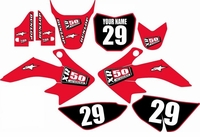 Suzuki DRZ 70 Graphics Kit (Red) Clean Series by FastTimes