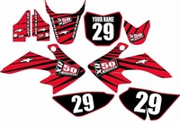 Suzuki DRZ 70 Graphics Kit (Red) Lines Series by FastTimes