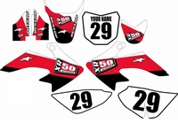 Suzuki DRZ 70 Graphics Kit (Red) Stripe Series by FastTimes