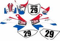Suzuki DRZ 70 Graphics Kit (USA) Stripe Series by FastTimes