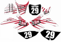 Suzuki DRZ 70 Graphics Kit (White) Lines Series by FastTimes