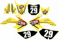 Suzuki DRZ 70 Graphics Kit (Yellow) Arrow Series by FastTimes
