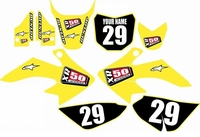 Suzuki DRZ 70 Graphics Kit (Yellow) Clean Series by FastTimes