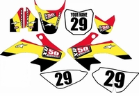 Suzuki DRZ 70 Graphics Kit (Yellow) Stripe Series by FastTimes