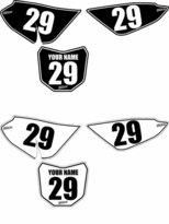 Suzuki DRZ 70 Pre-Printed Backgrounds by FastTimes (Black & White Pinstripe)
