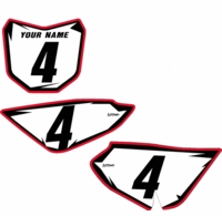 "Suzuki DRZ 70 Pre-Printed Backgrounds by Fast Times ""Shock Series"" (White)"