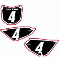 "Suzuki DRZ 70 Pre-Printed Backgrounds by FastTimes ""Shock Series"" (Black)"