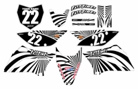 2010-2018 KLX110 Graphics Kit (Black) Swirl Series by Fast Times